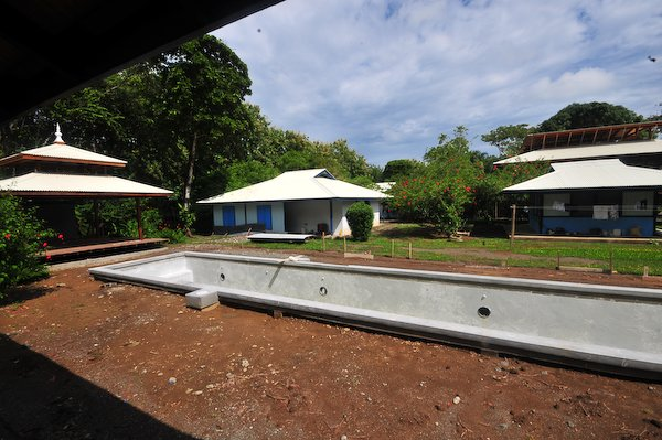 Construction of Blue Osa swimming pool