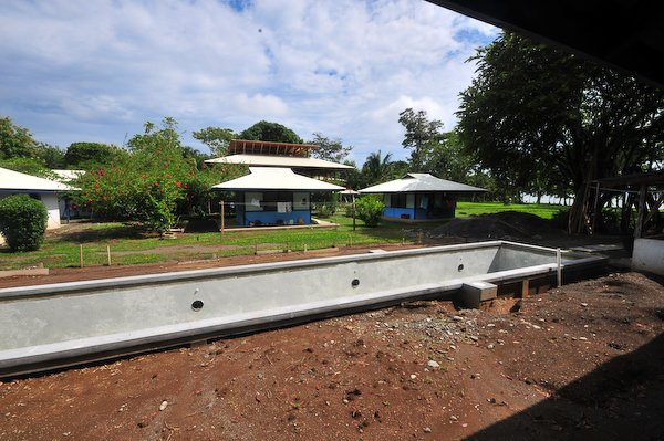 Construction at Blue Osa-view from the spa