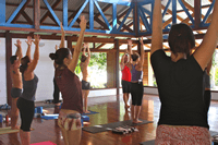 Practicing Yoga At Blue Osa In Costa Rica
