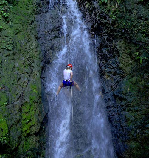 Costa Rica Waterfall Rappelling tour