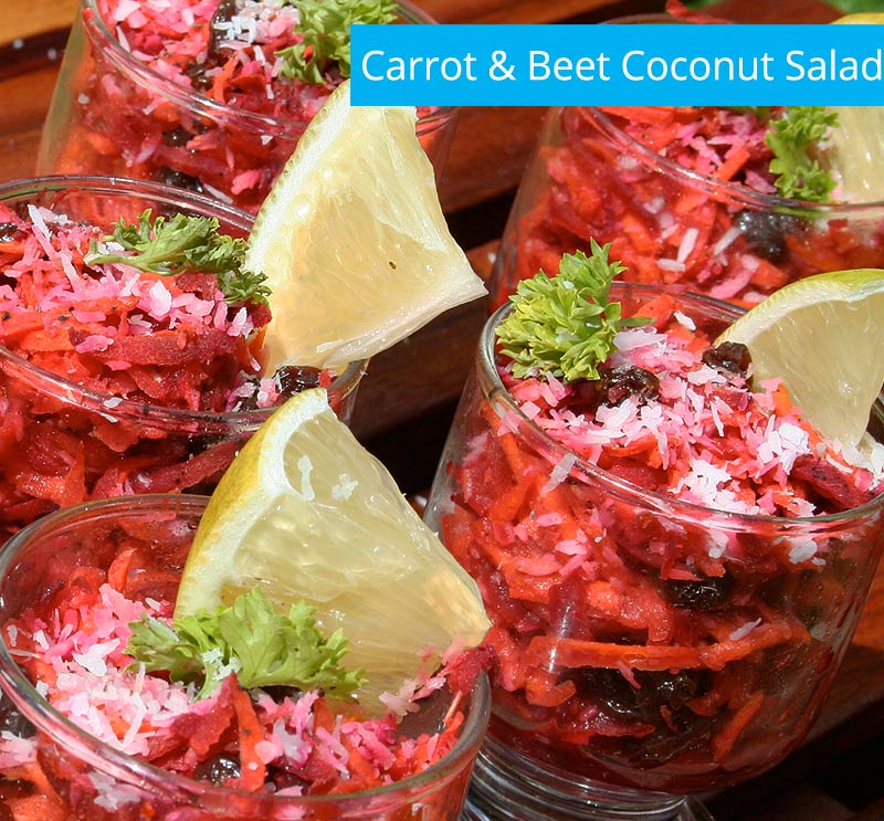 Carrot coconut beet salad From the kitchen of Blue Osa
