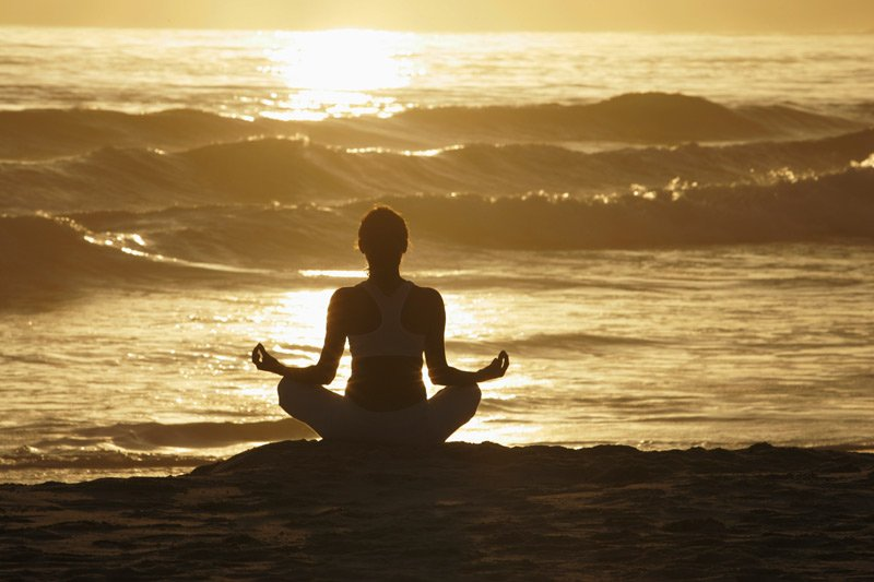 Meditation in Costa Rica beach front yoga retreat