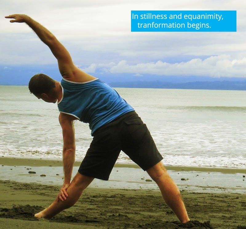 Trikonasana Triangle pose yoga