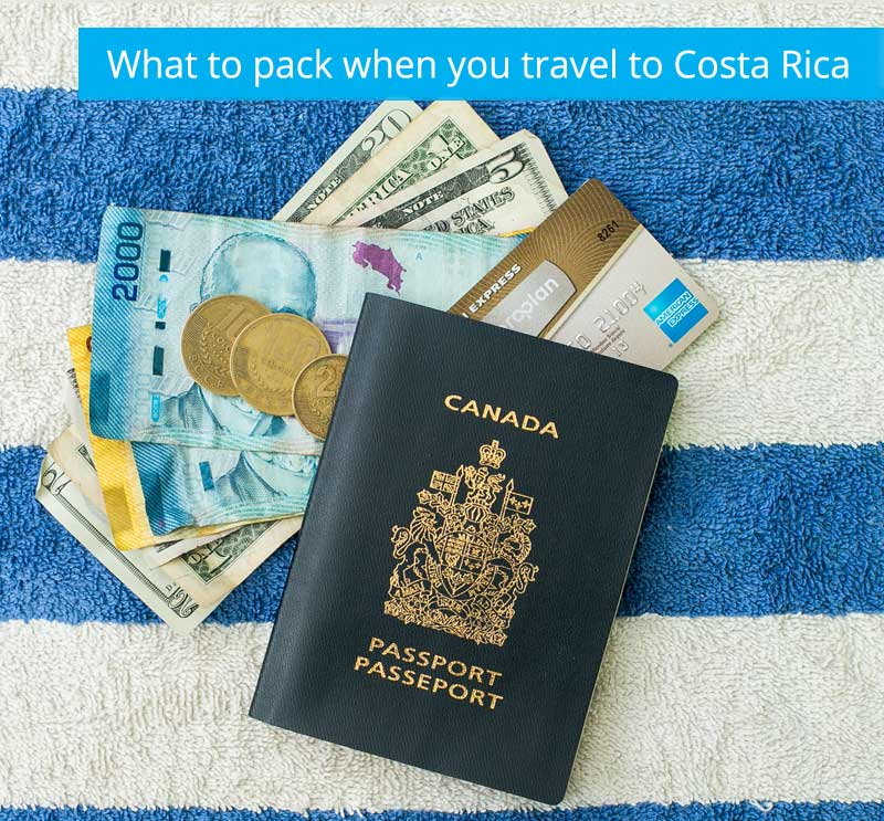 what to pack for your vacation to Costa Rica