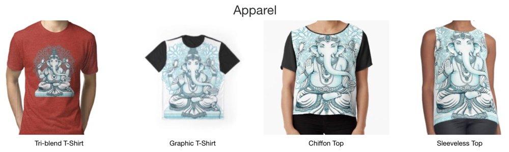 Blue Osa t shirts - Ganesh hindu god