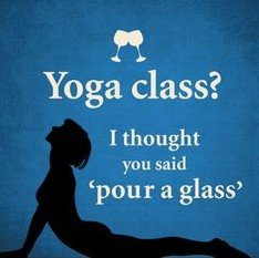 Image result for yoga and wine