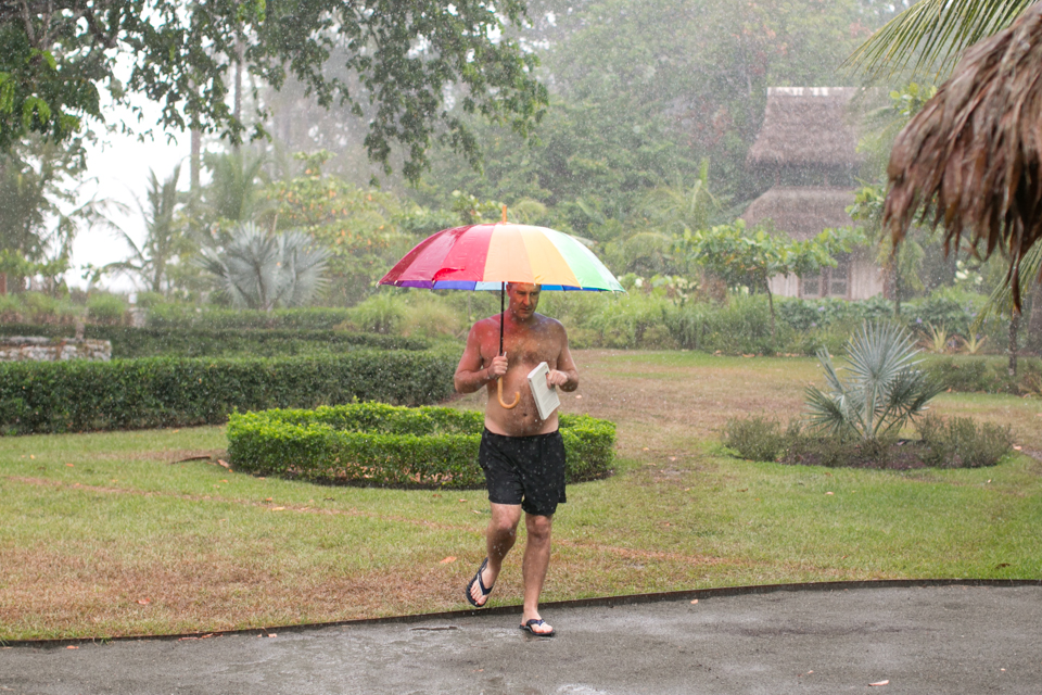 bring your umbrella for the rain
