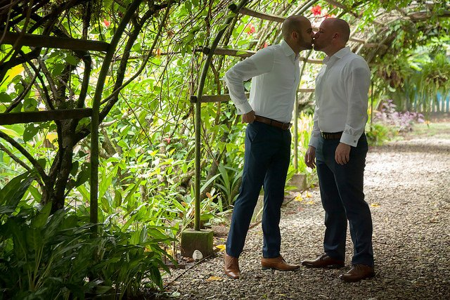 gay destination wedding at blue osa yoga retreat and spa in costa rica
