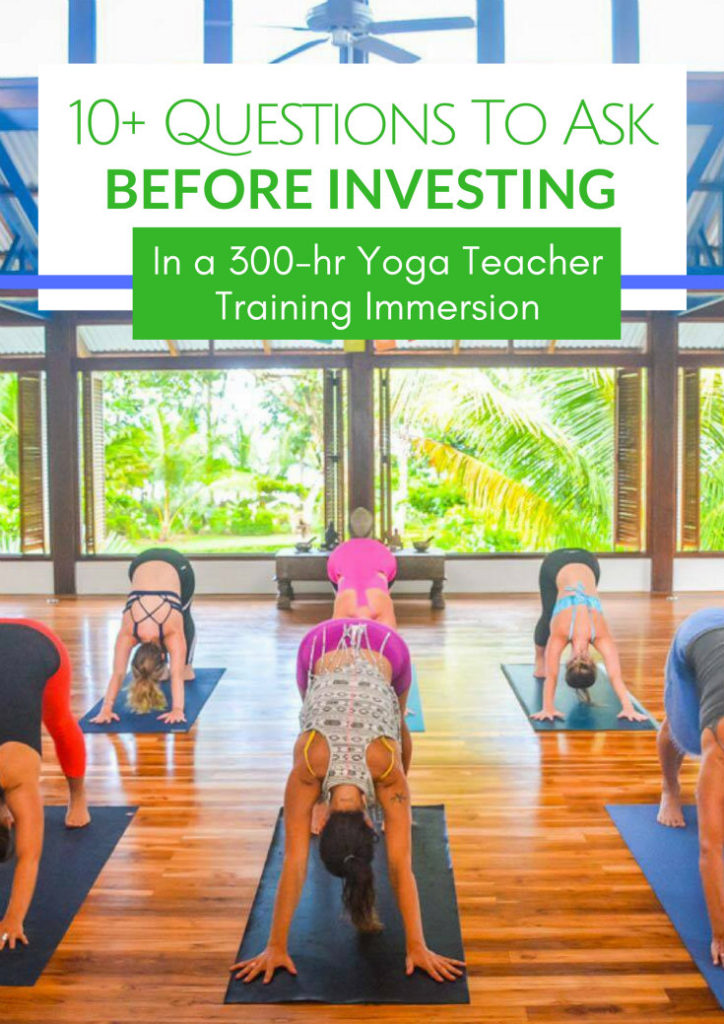 yoga teacher training immersion