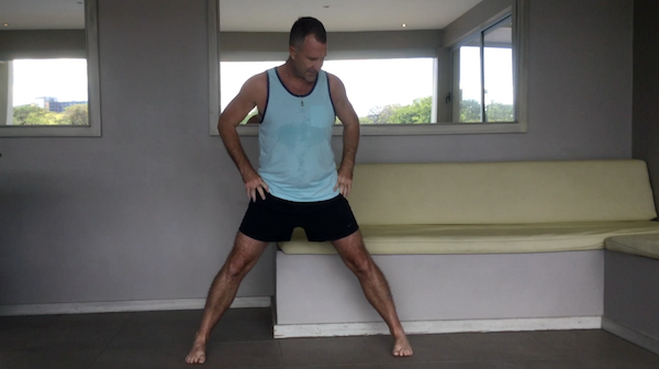 Triangle Pose Feet