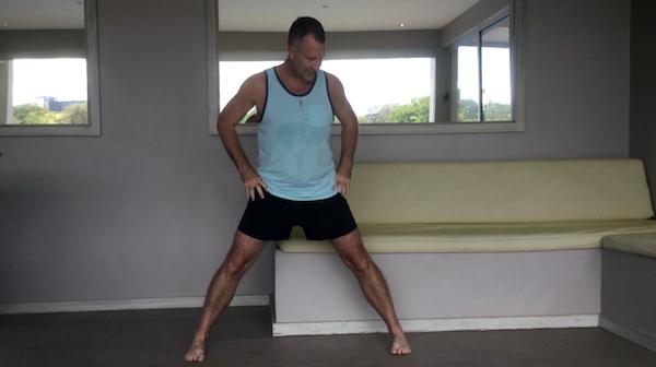 Triangle Pose Feet