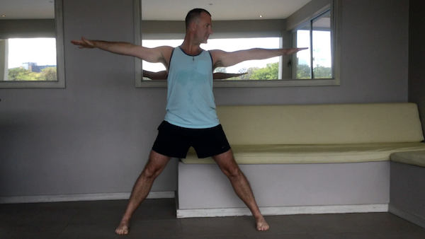 Triangle Pose Step 1