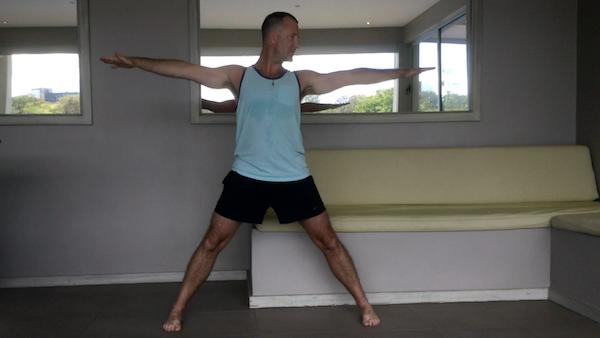 Triangle Pose Step 1