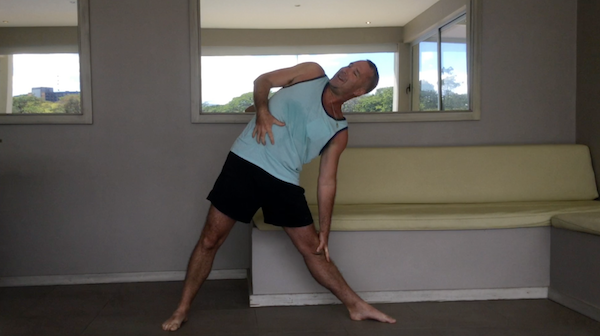 Triangle Pose Torso Rotation