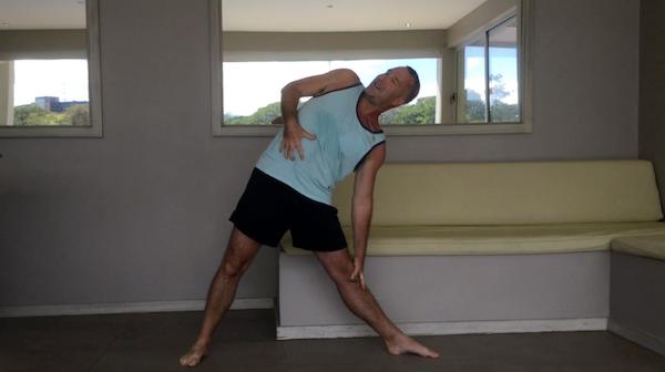 Triangle Pose Torso Rotation