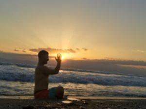 on the beach at Blue osa