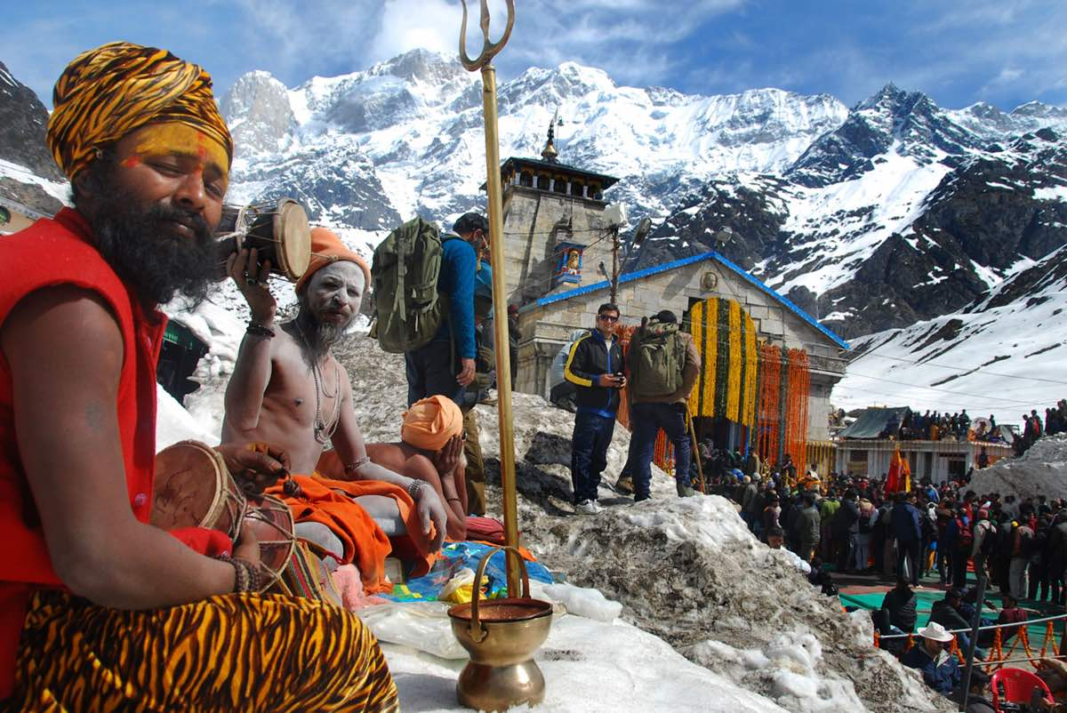 The holy temples in Badrinath