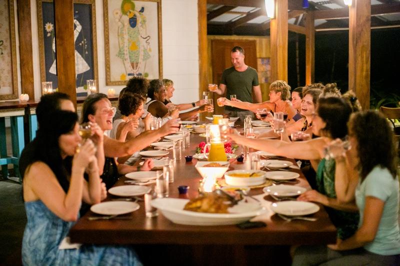 family dinner at blue osa