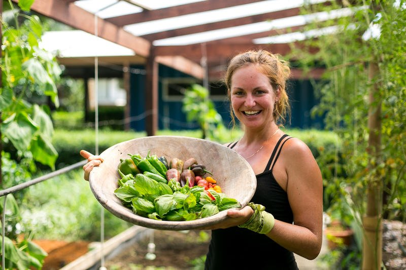 Fresh farm-to-table-goodness from the garden of Blue osa