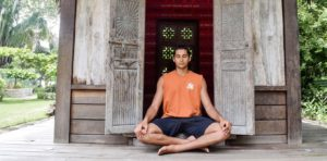 Yoga Student Meditating in Costa Rica | Blue Osa