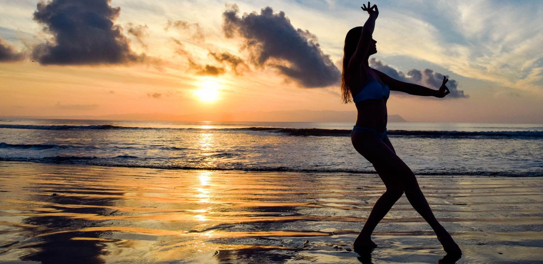 Woman Doing Yoga on the Beach | Retreats in Costa Rica | Blue Osa