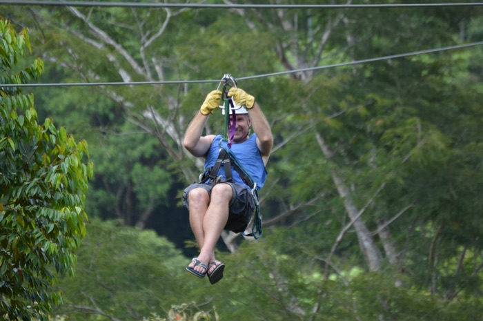 Yogi Aaron Ziplining in Costa Rica
