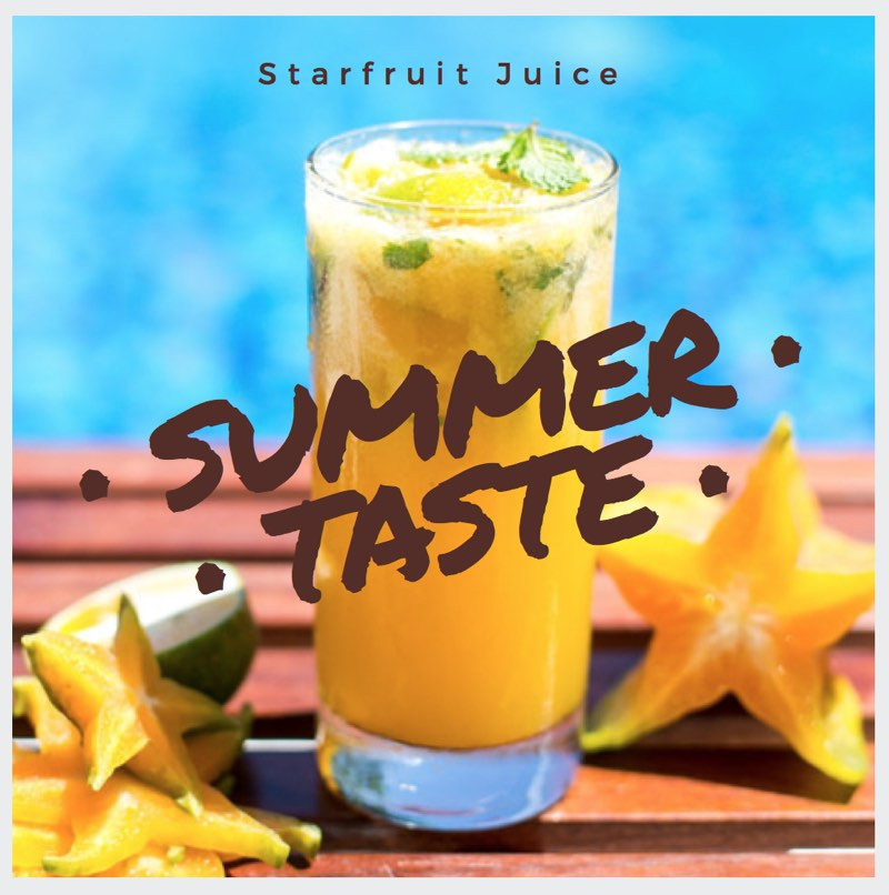 Starfruit Juice Blue Osa Costa Rica Yoga Retreat
