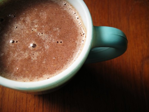 peanut butter chocolate banana healthy smoothie recipe
