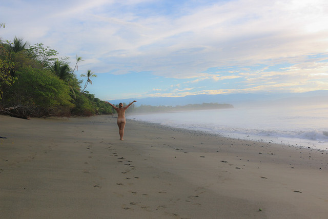 Why You Don't Need Underwear in Costa Rica naked on a beach freedom
