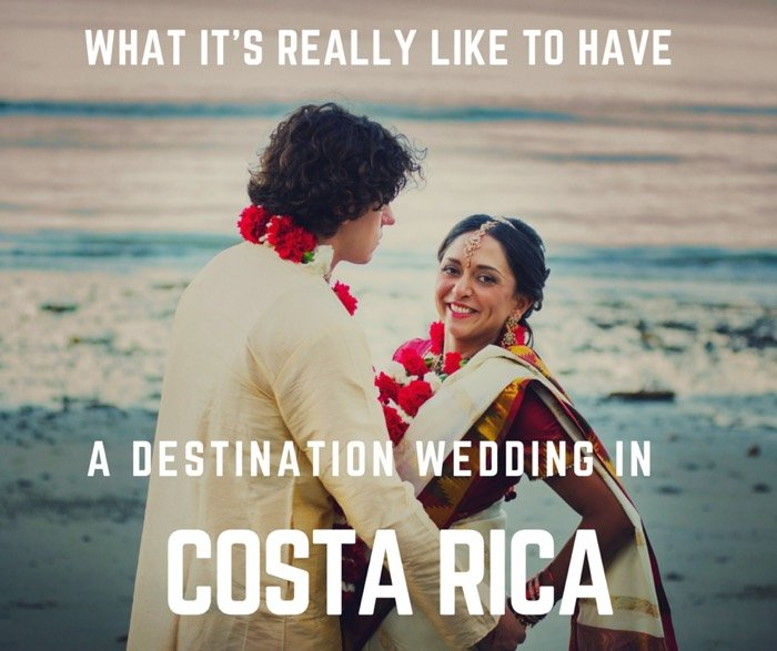 A Destination Wedding In Costa Rica Beach Wedding Blue Osa
