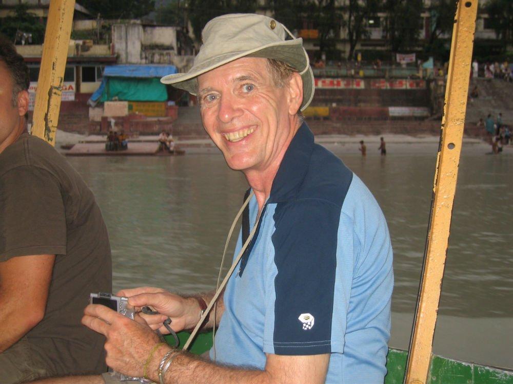 Brian during Ganga crossing