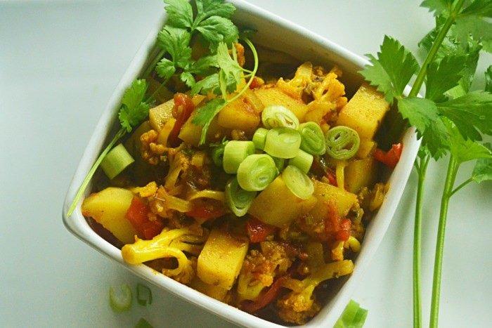 Indian Cauliflower Potatoe Delight