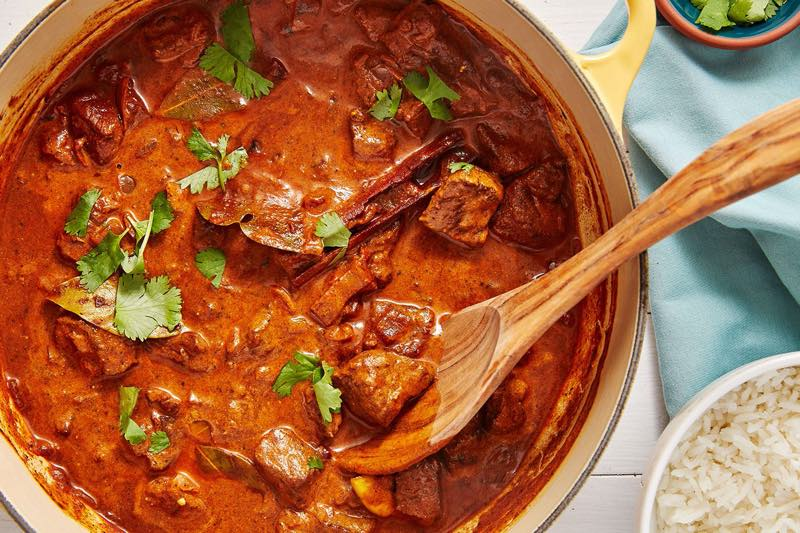 curried meat || Indian dshes