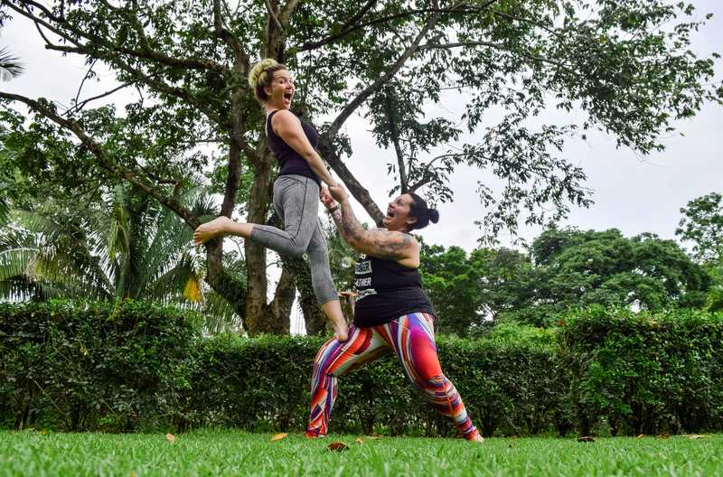 female empower and yoga