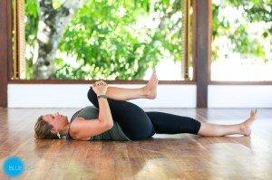 restorative yoga apanasana pose