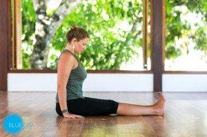 restorative yoga pose dandasana