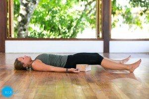 restorative yoga pose savasana