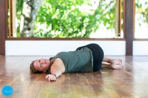 restorative yoga practice for stress and fatigue  blue