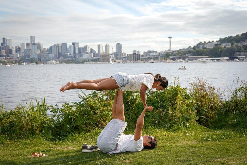 partner acro yoga pose | yoga poses for two